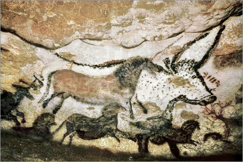Cave paintings in the cave of Lascaux