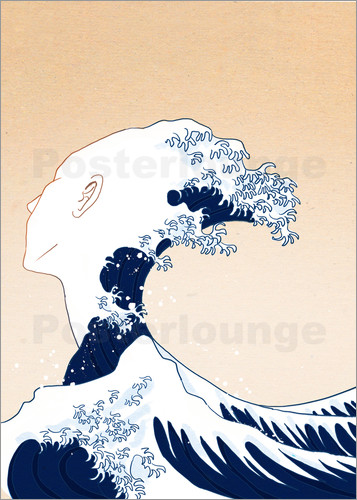 Poster Hommage to Hokusai