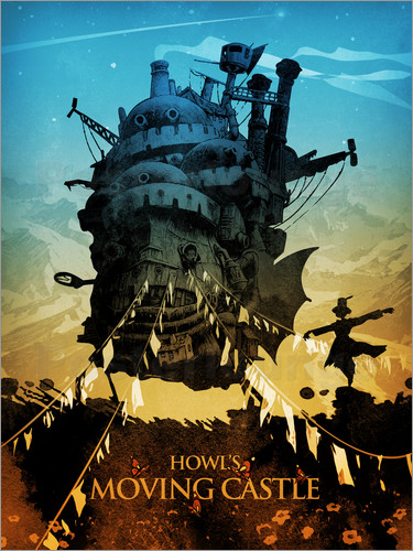 poster howl s moving castle 2 colors18x24 2 1563946