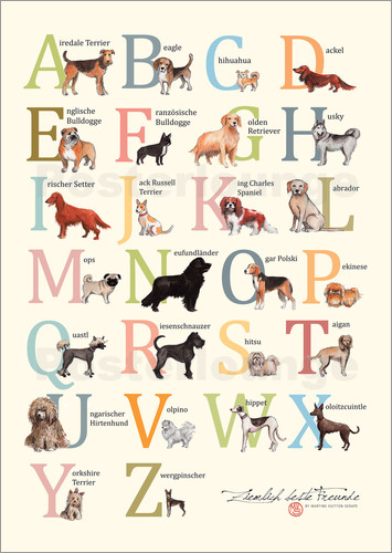 Poster Dogs ABC (German)