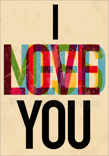 typobox i love you i need you poster posterlounge