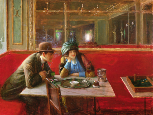 Jean Beraud - At the Cafe