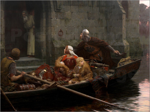 Edmund Blair Leighton - In Time of Peril
