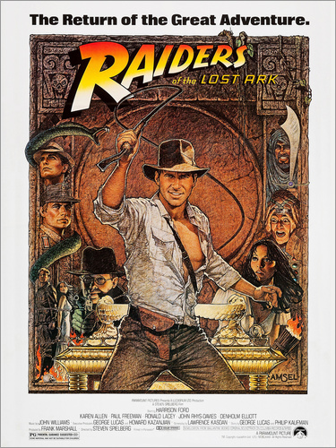 Poster Indiana Jones - Raiders of the lost ark