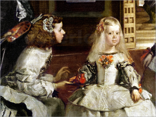 Poster Las Meninas or The Family of Philip IV