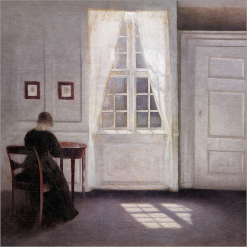 Vilhelm Hammershoi - Interior with sunlight on the floor