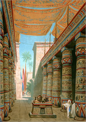 Dionisio Baixeras-Verdaguer - Interior of a palace of an Egyptian ruler