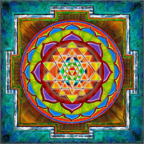 Poster Intuition Sri Yantra - Artwork II