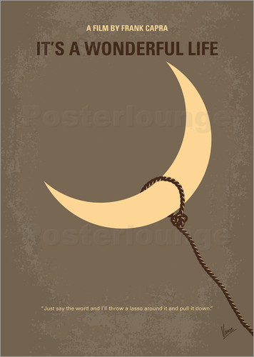 Poster My Its a Wonderful Life minimal movie poster