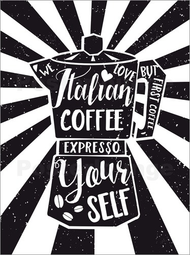 Nory Glory Prints - Italian coffee typography art print