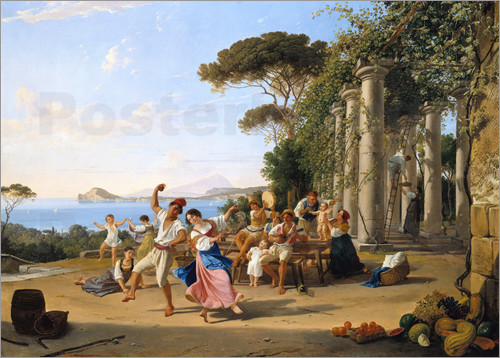 Franz Ludwig Catel - Italian people life at Pozzuoli