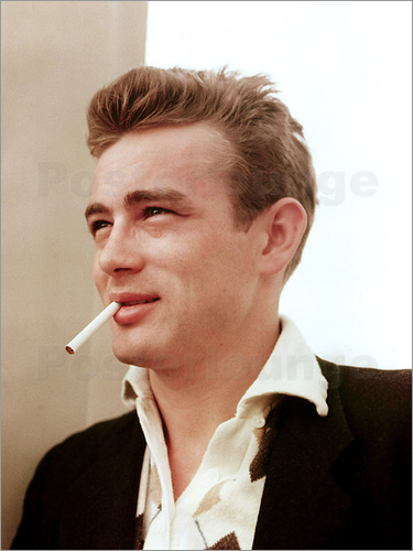 Poster James Dean with cigarette