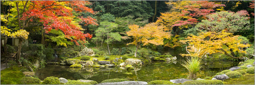 Jan Christopher Becke - Japanese garden in autumn