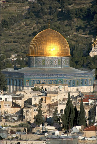 Poster Jerusalem and the Dome