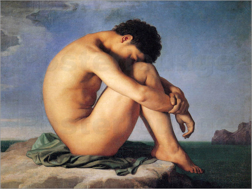 Hippolyte Flandrin - Young man beside the sea