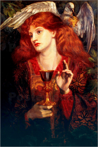 Dante Charles Gabriel Rossetti - The Damsel of the Sanct Grail