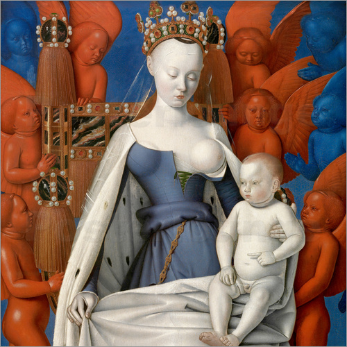 Jean Fouquet - Virgin and Child Surrounded by Angels
