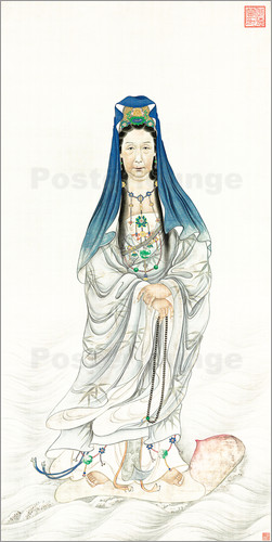 Chinese School - Empress Dowager Cixi as Guanyin