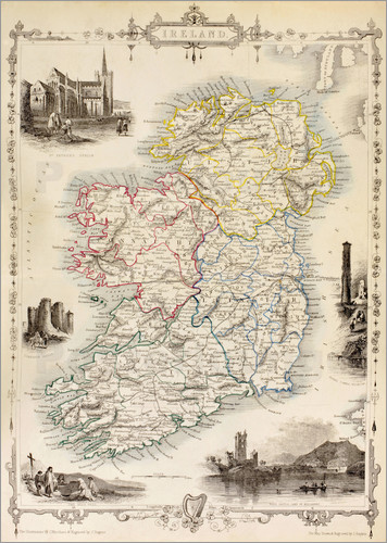 Ken Welsh - Map Of Ireland by Thomas Wright