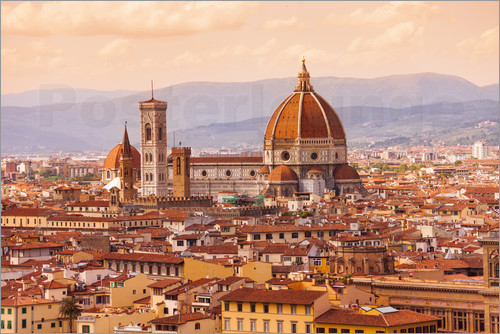 Poster Florence Cathedral in evening light