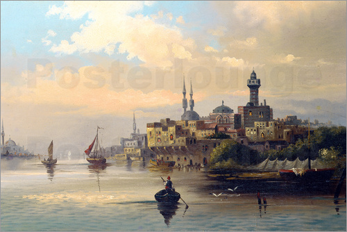 Poster Purchase ships on the Bosporus