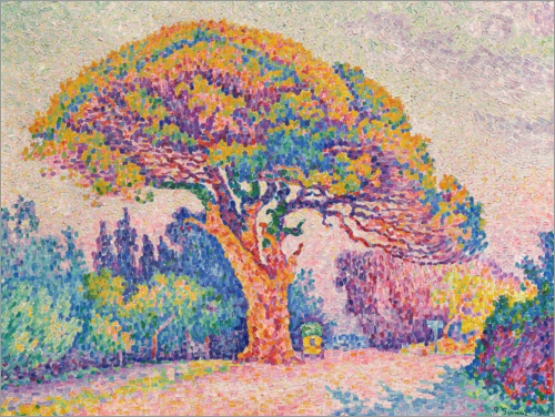 Paul Signac - Stone pine in Saint-Tropez