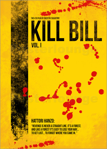 Poster Kill Bill - Tarantino Minimal Film Movie Alternative