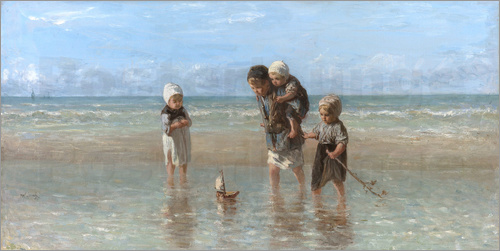 Jozef Israels - Children of the sea