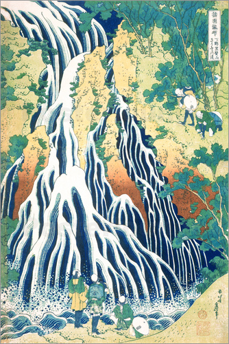 Poster Kirifuri Fall on Kurokami Mountain