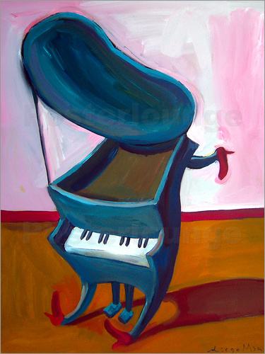Poster Little piano