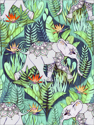 Poster Little Elephant on a Jungle Adventure