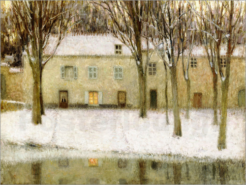 Henri Le Sidaner - Small square on the waterfront