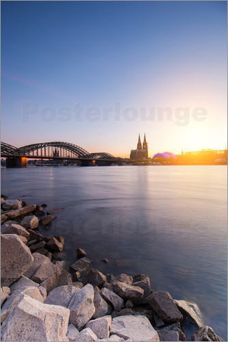 Poster Cologne on the Rhine-shore