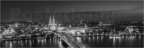 Poster Cologne cityscape skyline