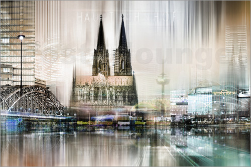Poster colonge germany Abstrkta Skyline