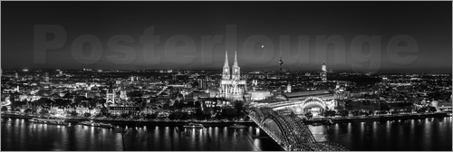 Poster Cologne skyline panorama
