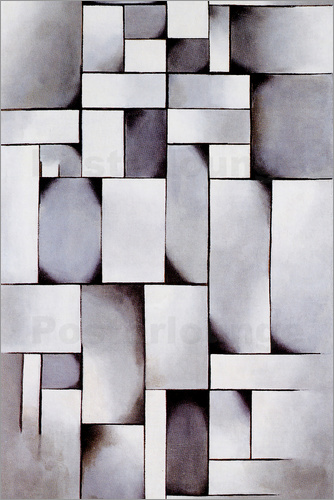 Theo van Doesburg - Composition in Gray (Rag-time)