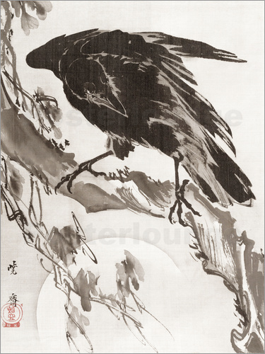 Poster Crow and the Moon
