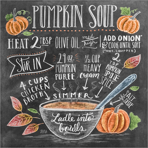 Poster Pumpkin soup recipe