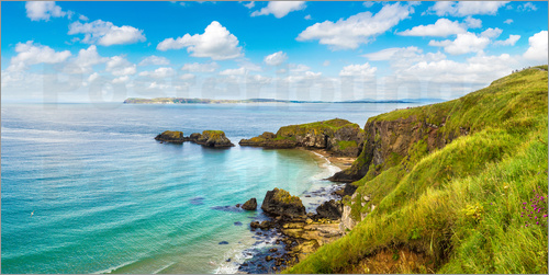 Poster Coast of Northern Ireland on a beautiful summer day