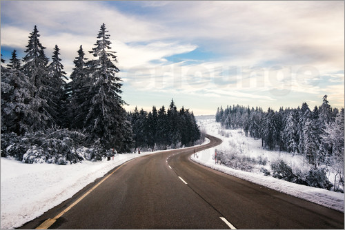 Dennis Fischer - Curvy road in winter in the Black Forest