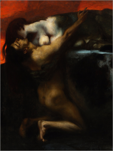 Franz von Stuck - The Kiss of the Sphinx