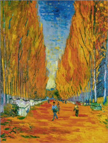 Poster L'Allee des Alyscamps, Arles