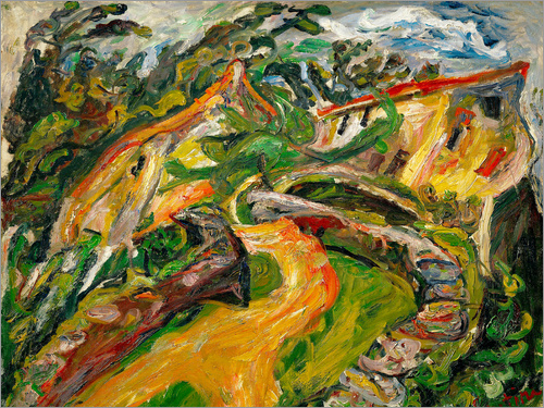 Chaim Soutine - Landscape with ascending road