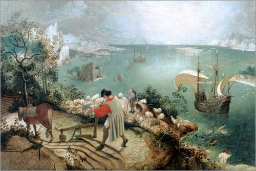Pieter Brueghel d.Ä. - Landscape with the Fall of Icarus
