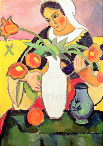 August Macke - The Lute Player