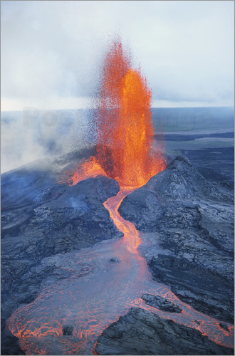 Poster Lava fountain