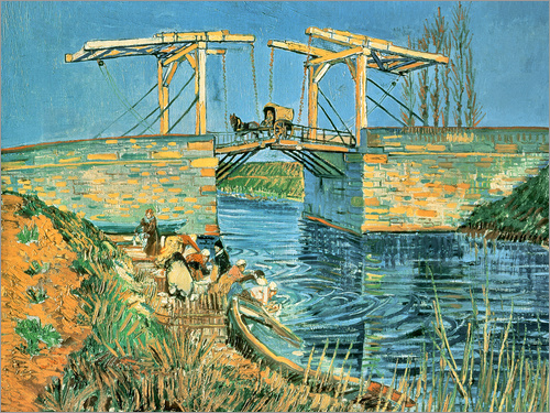 Vincent van Gogh - The bridge of Langlois in Arles with washerwomen