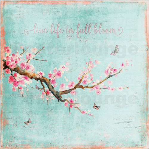 Poster Life bloom flowers cherry natural