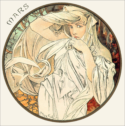 Alfons Mucha - Les Mois - March